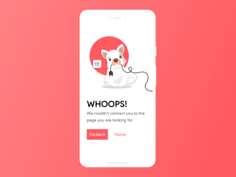 404 Error Page Daily UI Challenge #008 illustration bold font dailyuichallenge dailyui app animation branding website typography shot app ui ux minimal interaction design ui ux inspiration design