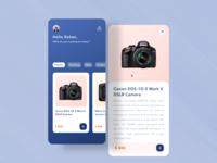 Camera store app ui visual exploration
