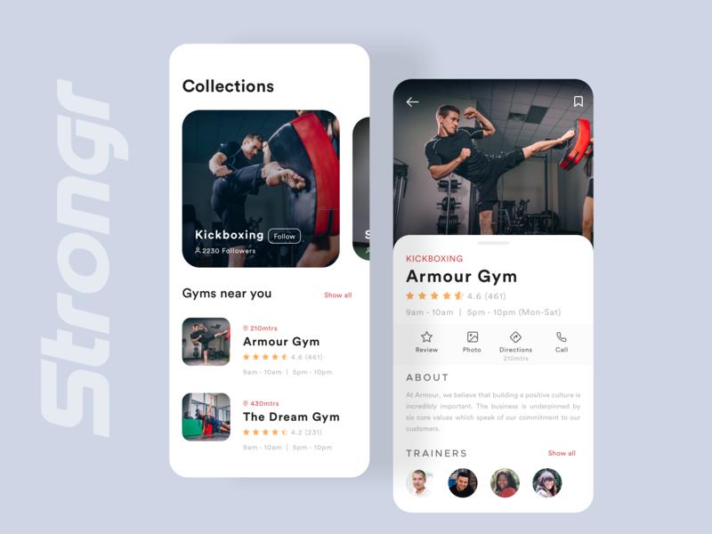 Strongr App concept flat sketch animation fitness app ios bold font dribbble branding dailyui typography shot minimal app ui interaction design ui ux ux inspiration design