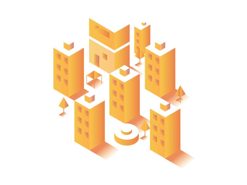 Real Estate Landing Page Illustration WIP interaction gradient color debut uiux illustration