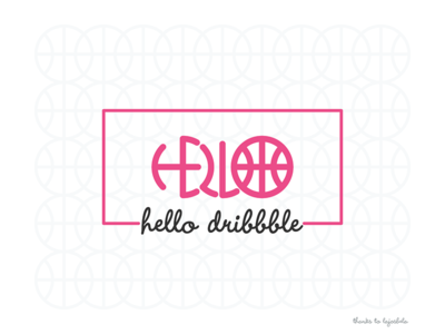 Hello Dribbble first shot hello pattern typography thanks invitation dribbble debut