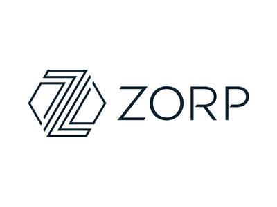 ZORP Logo line connections protection stripes hexagon letter z z branding logo it security