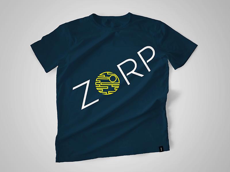 ZORP T-shirt gag star wars death star t-shirt