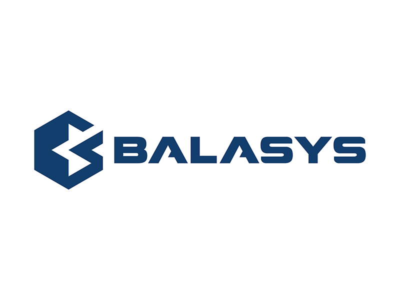 Balasys Logo it futuristic navy blue logo hexagon it security