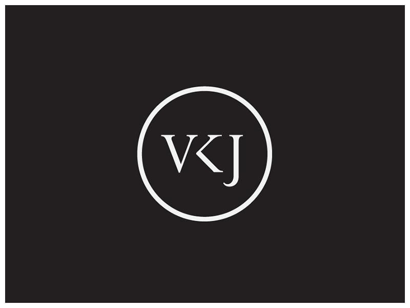 VKJ Monogram logo letter identity personal branding photographer monogram vkj typo typography logotype