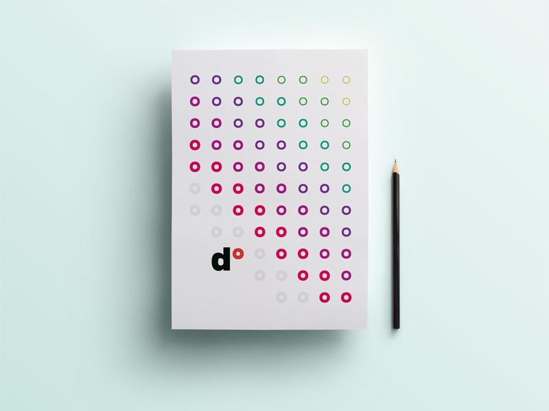 dotindot Brand Book Cover colorful cover brandbook typography typo degree mark circles circle dots dot dotindot