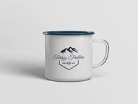 Enamel Mug with Hiking Logo