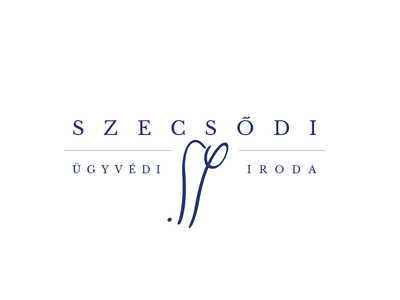 Szecsődi Law Firm Logo signo signature logo logotype serif blue lawyer law firm