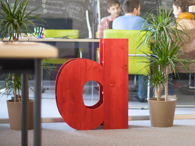 Wooden d - Interior Branding Object