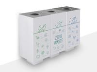 Selective waste bins