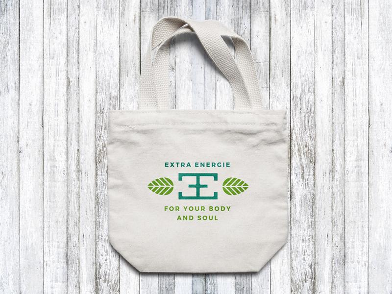 Extra Energie Canvas Bag Design bag canvas bio green leaf energy extra