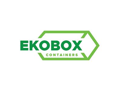 Ekobox Containers Logo geometry container box eko green logo