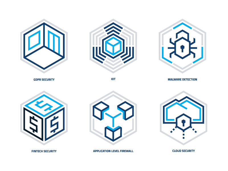 Security solutions icons small