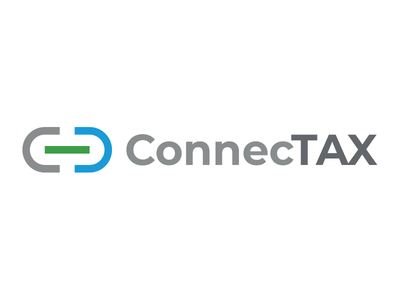 ConnecTAX Logo minimalist connect grid geometry logo chain