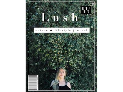 Lush Magazine Cover magazine product design