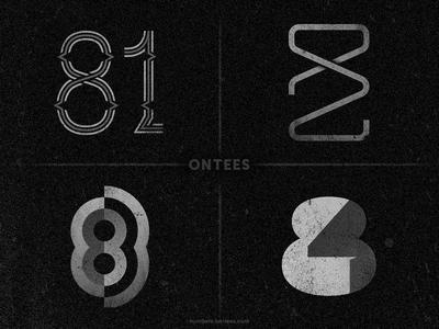 Numbers 81 to 84 on tees