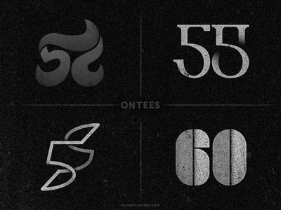 Numbers 57 to 60 on tees