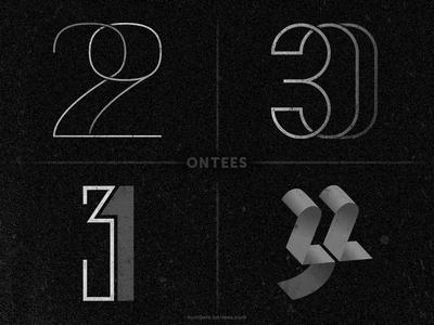 Numbers 29 to 33 on tees