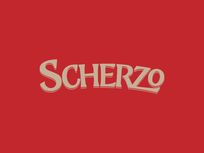 SCHERZO traditional brand branding logo brewery beer