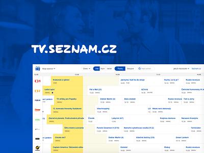 TV Program blue website seznam.cz design czech redesign ux ui simple program guide tv