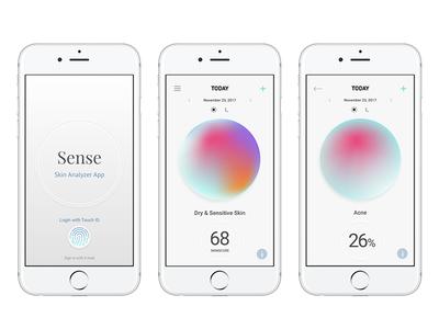 Sense: skin analyzer app