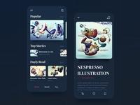 Art & Design / Mobile App 🌚 Dark Mode