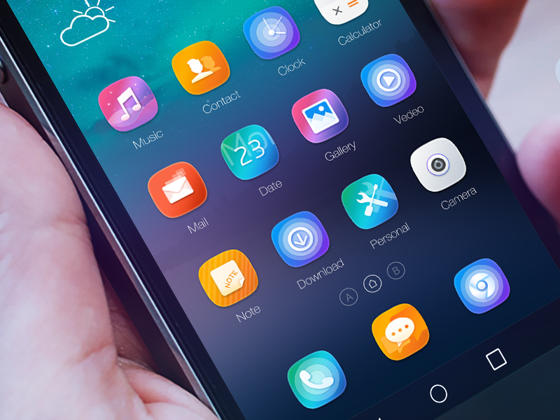 Android Theme by shrch on Dribbble