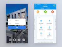 smart home login&homepage