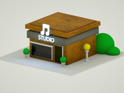 Music house Isometric