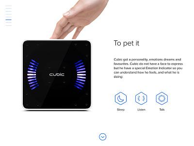 Cubic Robotics site webdesign web site device design