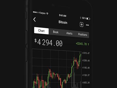 Blockfolio redesign concept ux ui simple mobile minimal clean blockchain bitcoin app ios