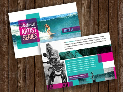 Melon Artist Series | Flyer Card Design print graphic brochure design card flyer