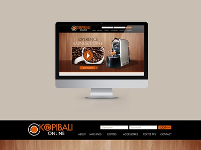 Kopi Bali | Web Design screen graphic online digital mockup interface ui design web webdesign