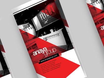 Anaya Group | Brochure Design modern graphic print flyer design brochure