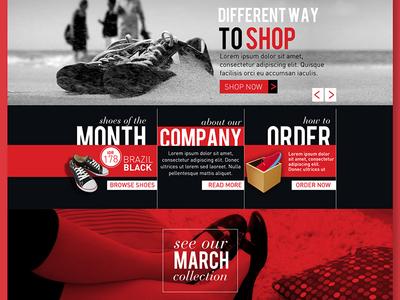 Shoes Company | Webdesign graphic shoes digital online mockup interface ui design website web webdesign