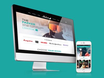 Melon Optics | Website Redesign web responsive digital ui online graphic design webdesign redesign website