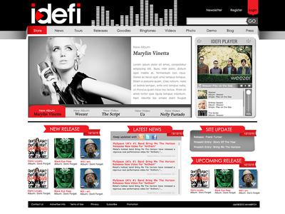 IDEFI | Website Design layout digital online web graphic design mockup webdesign website