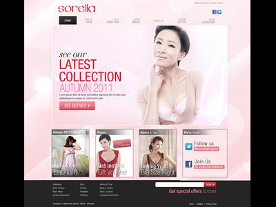 Sorella | Webdesign layout fashion website redesign webdesign design graphic online ui digital responsive web