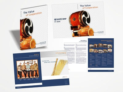 Bank BNP | Annual Report Company Profile Design layout coorporate graphic design print book company profile report annual