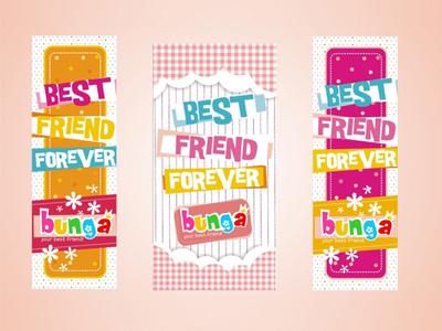 Bunga Accesories | Banner Design branding vector digital print layout graphic design banner girly