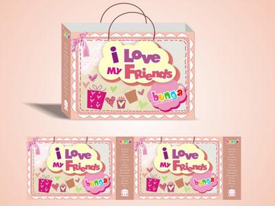 Bunga Accessories | Packaging Bag branding packaging bag print layout graphic design banner girly