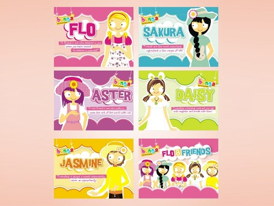 Bunga Accesories   Character Design branding icon character digital print layout graphic design banner girly