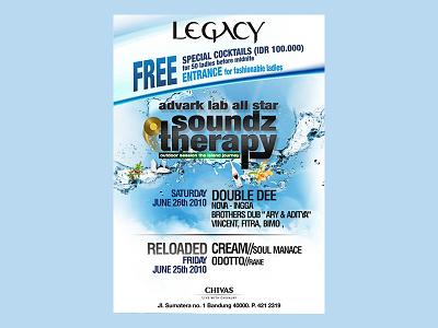 Legacy Bar   Flyer Design composition layout graphic cool digital print billboard flyer legacy