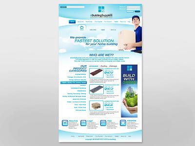 Building Supplies   Website Design screen interface ui online digital mockup graphic layout webdesign design website
