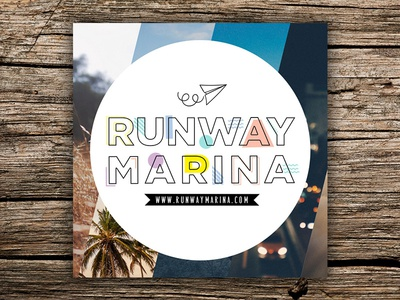 Runway Marina Logo branding brand website blogger marina fun travellers logo blog travel