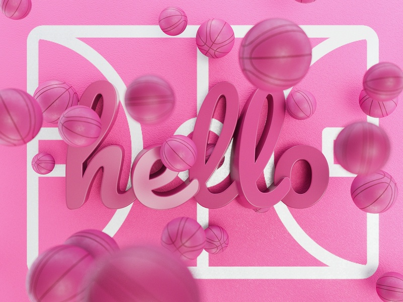 Hello Dribble illustration 3d visual art hellodribble debutshot debut