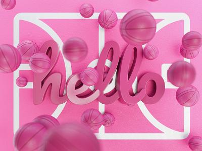 Hello Dribble illustration 3d visual art hellodribble debutshot debut
