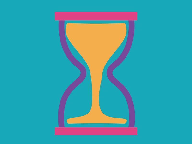 Imperfect Sand Clock logo identity icon illustrator design agency clean art flat minimal vector illustration design