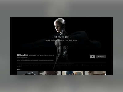 Movies Detail Pages icon web typography branding ux ui inteaction animation vector design