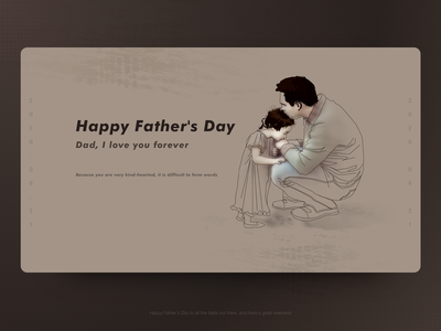 father s day web inteaction ux ui vector typography illustration design